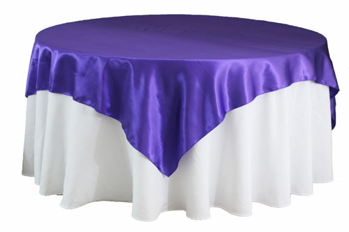 purple satin overlay