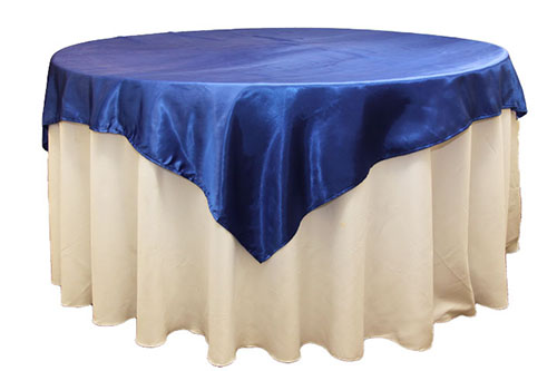 royal blue satin overlay